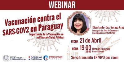 """WEBINAR: """"Vacunación contra el SARS-COV2 en Paraguay"""""""