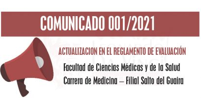 Actualización en el reglamento de Evaluación – Carrera Medicina